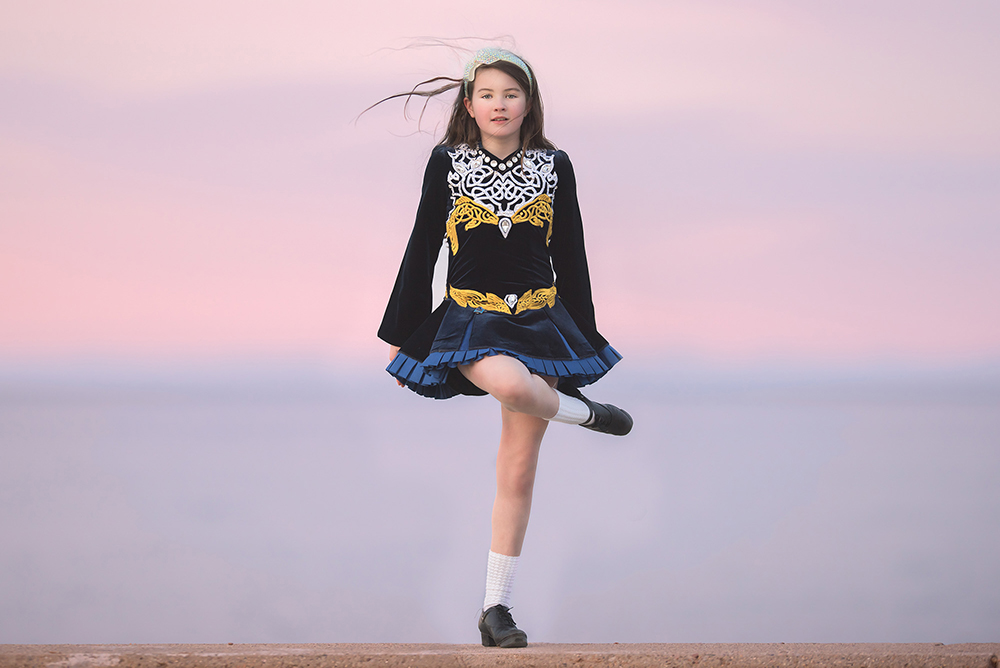 Irish Dancing at Sunset on Long Beach in Plymouth